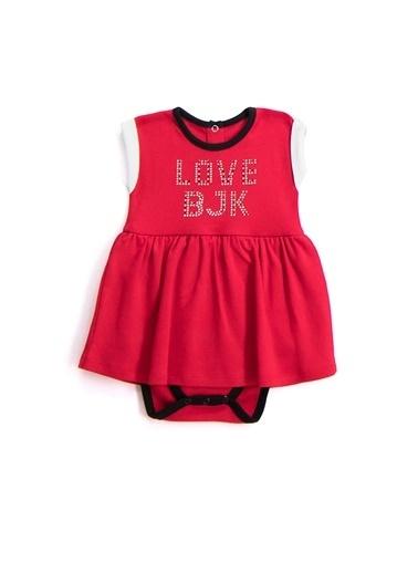 Beşiktaş Beşiktaş Lisanslı Kız Bebek Body Kırmızı Kırmızı